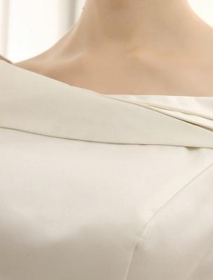 Elfenbeinfarbenes A-Linien-Brauthochzeitskleid mit schulterfreien Rüschen Exklusiv_7