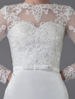 Vintage Brautkleider Jewel Langarm Etui Kurzes Brautkleid Exklusiv_9