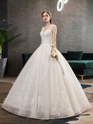 Princess-Wedding-Dresses-Ivory-Illusion-Neck-Beaded-Sleeveless-Floor-Length-Bridal-Gown_3