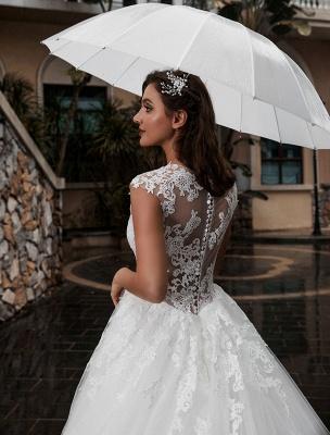 Preises Brautkleid Spitze Mieder Tüll Satin Stoff Sweep Zug Applikation Brautkleid Exklusiv Wedding_4