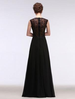 Black Evening Dress Lace Sweatheart Maxi Party Dress A Line Sleeveless Floor Length Mother'S Dress_2
