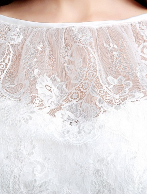 Spitze Sweatheart Trompete/Meerjungfrau-Brautkleid mit Spitzencape Lace_9