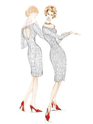Einfache Brautkleider 2021 Kurze Langarm Illusion Ausschnitt Koyhole Knielangen Mantel Brautkleid Exklusiv_10