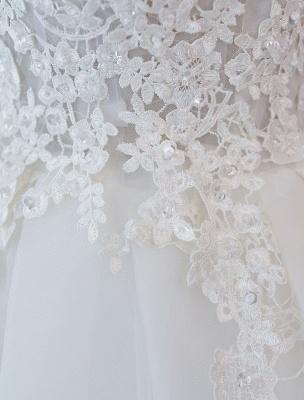 Robes de mariée princesse robes de bal dentelle col en V sans manches longueur de plancher robes de mariée_6