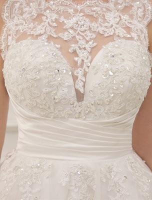 Kurze Brautkleider Vintage 1950er Brautkleid rückenfrei Spitze Perlen Plissee Pailletten Illusion Hochzeitsempfang Kleid mit exklusiven_8