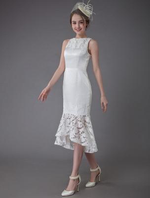 Kurzes Brautkleid Vintage Jewel Ärmelloses Etui-Brautkleid Exklusiv_1