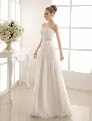 Strapless Tiered Wedding Dress In Floor-Length_3
