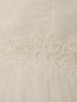 V-Neck Mermaid Brides Wedding Dress With Flowers Detailing_6