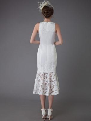 Kurzes Brautkleid Vintage Jewel Ärmelloses Etui-Brautkleid Exklusiv_8