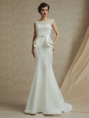 Lace Wedding Gown With Mermaid Sweep ( Veil & Accessories Are Excluded )_2