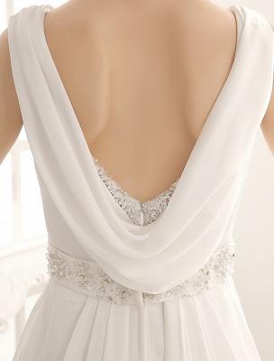 Robe de mariée à col rabattu avec satin plissé exclusif_7