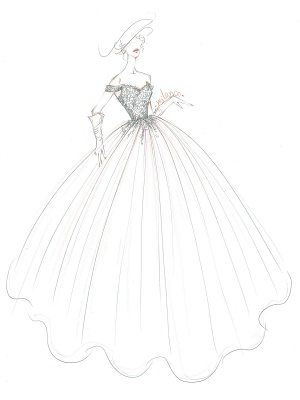 Brautkleid Prinzessin Silhouette Hofzug Schulterfrei Ärmellos Natürliche Taille Spitze Tüll Brautkleider_4