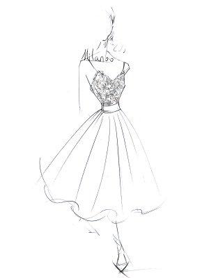 Robe de mariée courte col en V sans manches une ligne longueur de thé bretelles robes de mariée_6