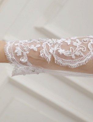 Prinzessin Brautkleider Langarm Brautkleid Spitze Applique Pailletten Perlen Illusion Ballkleid Brautkleid Mit Zug Exklusiv_9