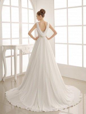Robe de mariée à col rabattu avec satin plissé exclusif_4