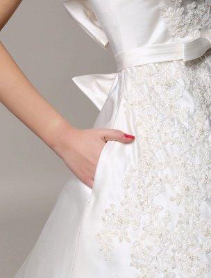 Robe de mariée en dentelle à dos ouvert avec col bateau et poches insérées_7