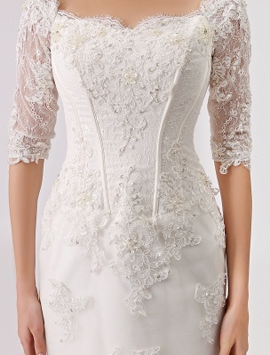 2021 Vintage Inspired Off The Shoulder Mermaid Lace Wedding Gown Exclusive_7