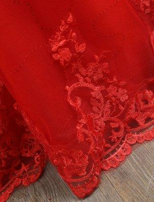 Rote Brautkleider Spitze Applique Perlen Prinzessin Ballkleider Zug Brautkleid_8