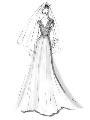 Einfache Brautkleider 2021 Chiffon A Line V-Ausschnitt ärmellose Spitze Perlen Brautkleider mit Zug_3