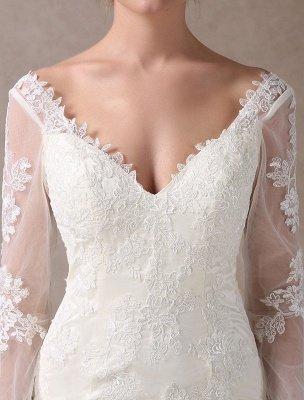 Boho Wedding Dresses Short Sheath Beach Bridal Dress Bell Sleeve Lace Applique V Neck Knee Length Summer Wedding Gowns Exclusive_8
