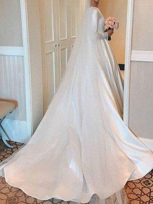 Vintage Brautkleid Jewel Neck Ärmellos Natürliche Taille Satin Stoff Kapelle-Schleppe Plissee Traditionelle Kleider Für Die Braut_3