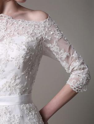 Wedding Dresses Vintage Lace Mermaid Of The Shoulder Court Train Bridal Dress Exclusive_4