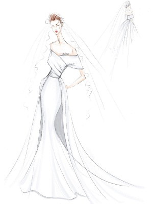 Robe de mariée vintage blanche avec train en satin sur l'épaule robe de mariée plissée sirène robes de mariée_4