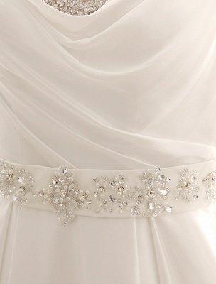 Robe de mariée à col rabattu avec satin plissé exclusif_8