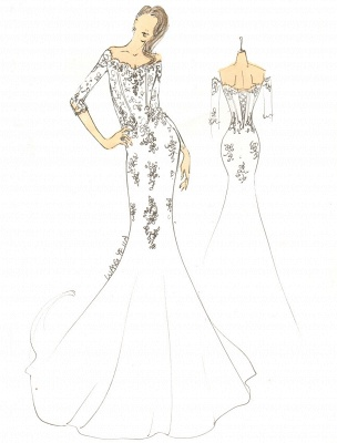 2021 Vintage Inspired Off The Shoulder Mermaid Lace Wedding Gown Exclusive_2