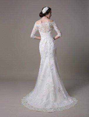 Wedding Dresses Vintage Lace Mermaid Of The Shoulder Court Train Bridal Dress Exclusive_2
