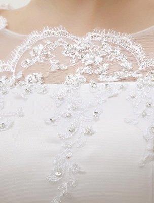 Prinzessin Brautkleider Langarm Brautkleid Spitze Applique Pailletten Perlen Illusion Ballkleid Brautkleid Mit Zug Exklusiv_7