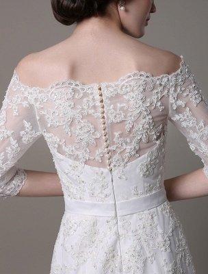 Wedding Dresses Vintage Lace Mermaid Of The Shoulder Court Train Bridal Dress Exclusive_5
