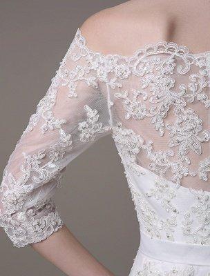 Wedding Dresses Vintage Lace Mermaid Of The Shoulder Court Train Bridal Dress Exclusive_7