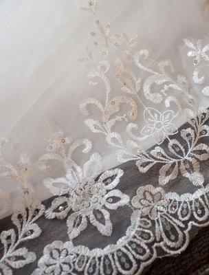 Elfenbein Brautkleider Schulterfrei Spitze Perlen Kathedrale Zug Brautkleid_7