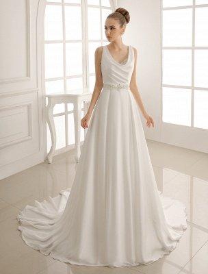 Robe de mariée à col rabattu avec satin plissé exclusif_2
