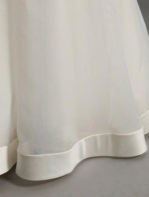 Vintage-inspiriertes Brautkleid mit tiefem V-Ausschnitt und Schleife, verziert mit Cut Out Back_13