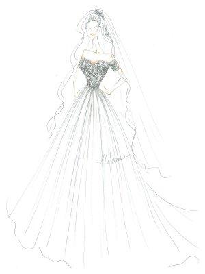 Einfaches Brautkleid Tüll Schulterfrei Kurze Ärmel Spitze A-Linie Brautkleider_4