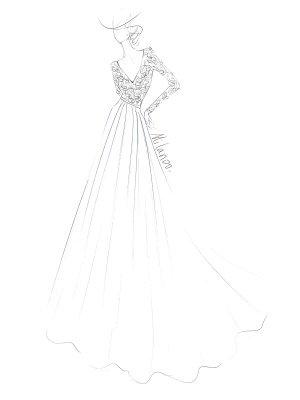 Simple Wedding Dress A Line V Neck Long Sleeve Floor Length Chiffon Lace Beach Wedding Dresses_6
