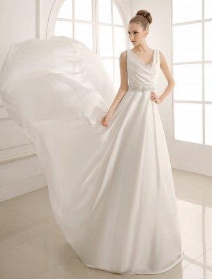 Robe de mariée à col rabattu avec satin plissé exclusif_3