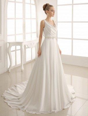Robe de mariée à col rabattu avec satin plissé exclusif_1