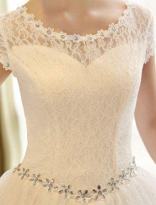 Prinzessin Ballkleid Brautkleider Spitze Pailletten Brautkleid Elfenbein Perlen Schärpe Backless Brautkleider_6