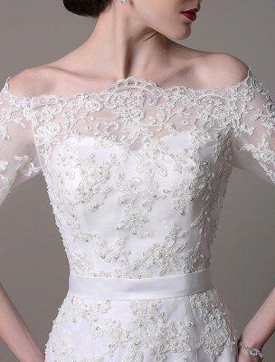 Wedding Dresses Vintage Lace Mermaid Of The Shoulder Court Train Bridal Dress Exclusive_3