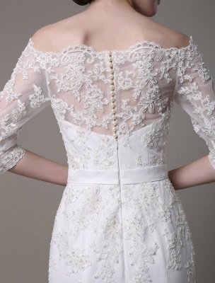 Wedding Dresses Vintage Lace Mermaid Of The Shoulder Court Train Bridal Dress Exclusive_6