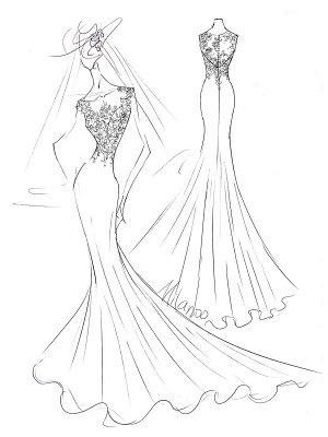 White Simple Wedding Dress White Chiffon Illusion Neckline Sleeveless Court Train Applique Sheath Bridal Gowns_5