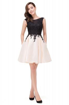 EVA | A-line Sleeveless Lace Appliques Short Prom Dresses_11