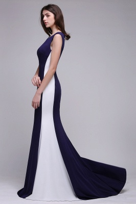 BLAKE | Sheath Scoop Floor-Length Dark Navy Evening Dresses_7