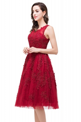 ADELINE | A-line Short Tulle Evening Dress with Appliques_8