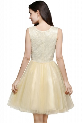 CLARA | Princess Scoop neck Knee-length Tulle Prom Dress_3