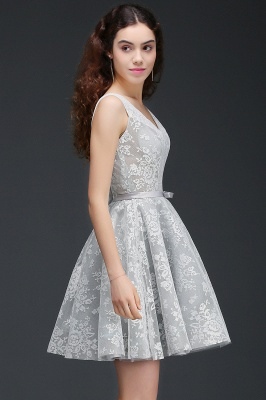 ALEAH | A Line Strtaps Lace Cocktail Homecoming Dresses With Sash_3