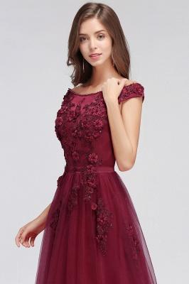 EMBER   A-line Off-shoulder Floor-length Tulle Appliques Prom Dresses_10